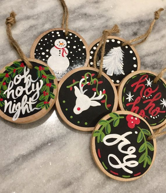 Mini wood slice christmas ornaments – TC Gürkan Şınığ