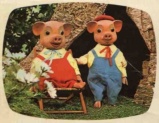 Pinky and Perky. One of my first albums was a Pinky and Perky record !