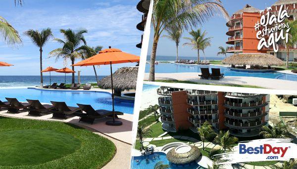 Vivo Resorts es un moderno hotel de 48 habitaciones, situado a la orilla de la Playa Palmarito, en Puerto Escondido. En él disfrutarás lujosos condominios totalmente equipados con sala de estar, comedor, cocina y terraza con vista al mar. También dispone de una piscina de borde infinito, tienda de abarrotes y centro de lavado dentro de la habitación, internet inalámbrico y servicio de masajes. #OjalaEstuvierasAqui