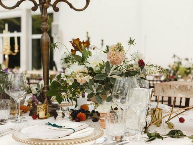 Tischdekoration zur Hochzeit von Pyrus - Pflanzenfreude.de
