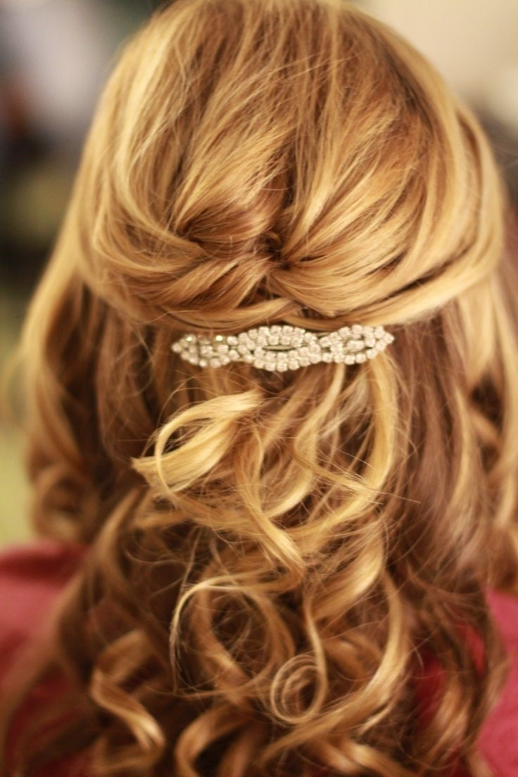 Wedding Hair Half Up Half Down Short Hair 736 X 1104 Half