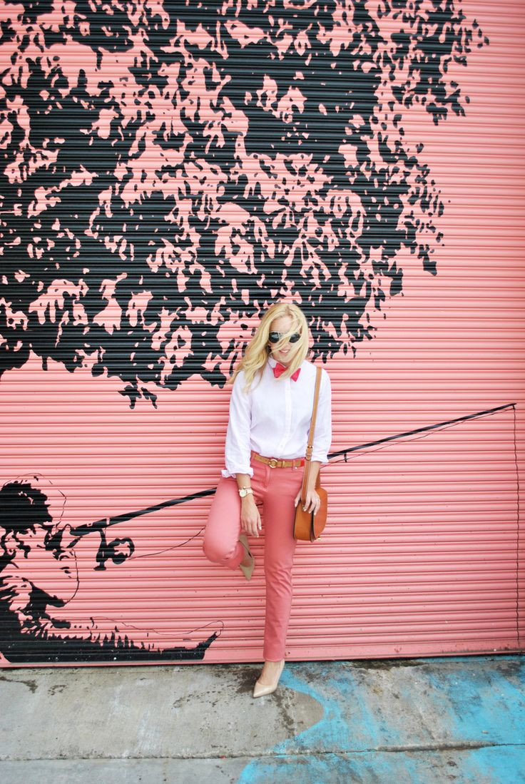 thoughtfulwish | preppy // school outfit // pink outfit // peach outfit…