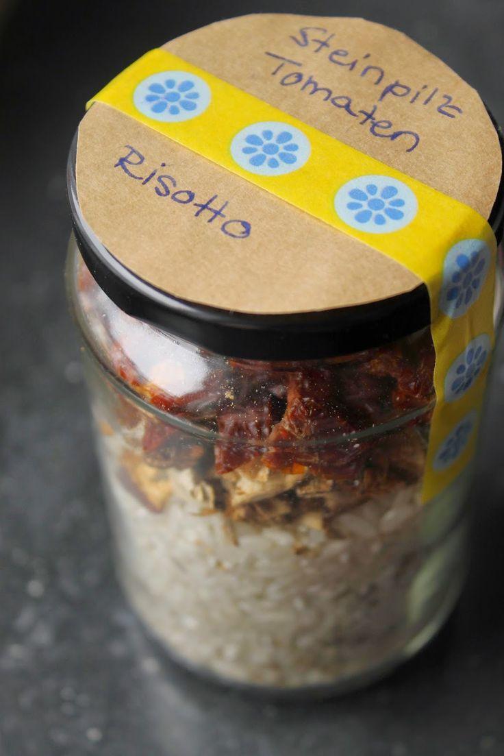 Geschenke aus der Küche: Steinpilz Tomaten Risotto im Glas