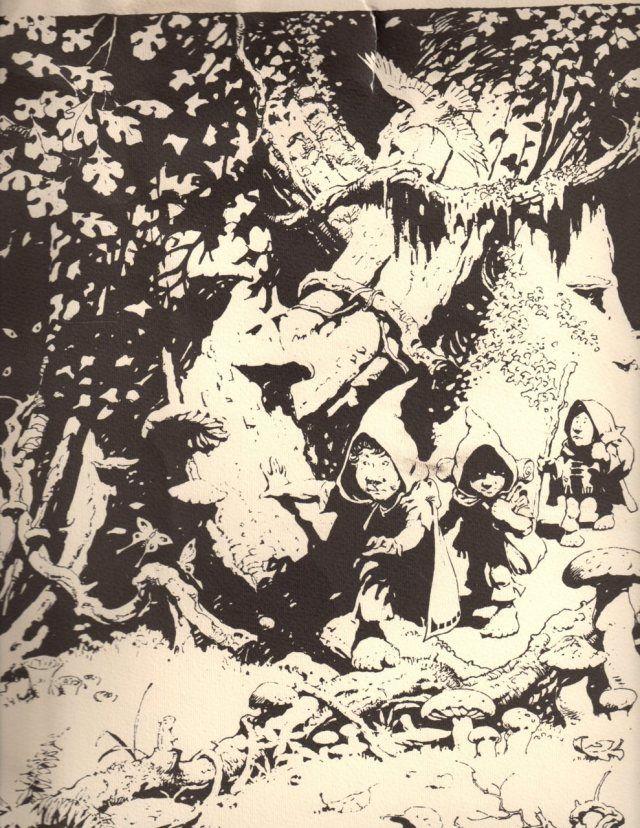 A trio of questing hobbits - Frank Frazetta