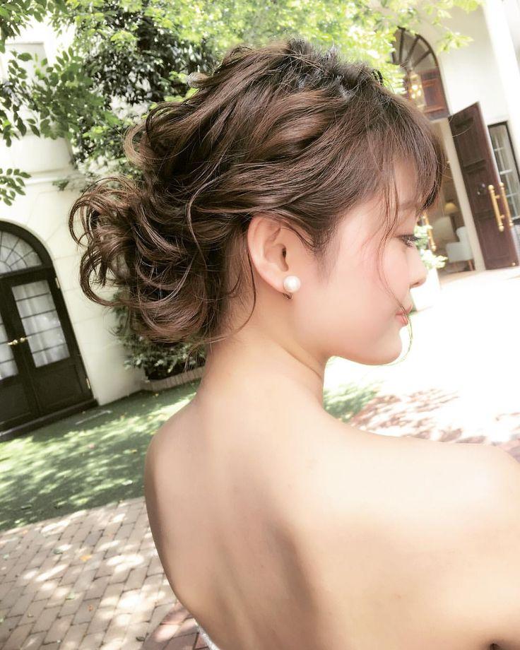 いいね!233件、コメント1件 ― tomoko tanaka💄hair makeさん(@tomoko_make)のInstagramアカウント: 「✳︎✳︎ . 後れ毛の量って大事 . 自然に落ちたのであろう… . と思わせる量が1番可愛いと思う。 . #プレ花嫁#ヘアアレンジ #まとめ髪 #ヘアスタイル#花嫁髪型 #結婚式髪型…」