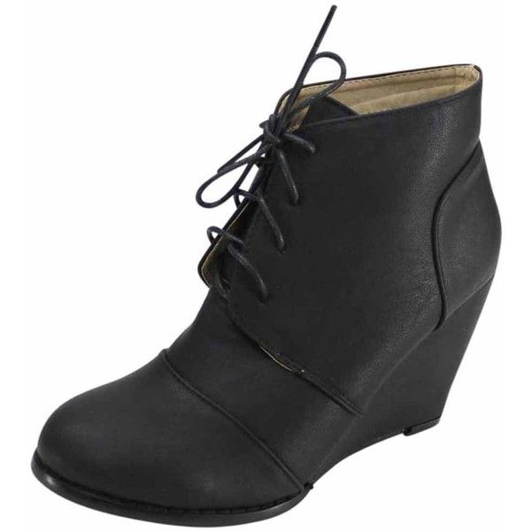25 best ideas about black wedge ankle boots on