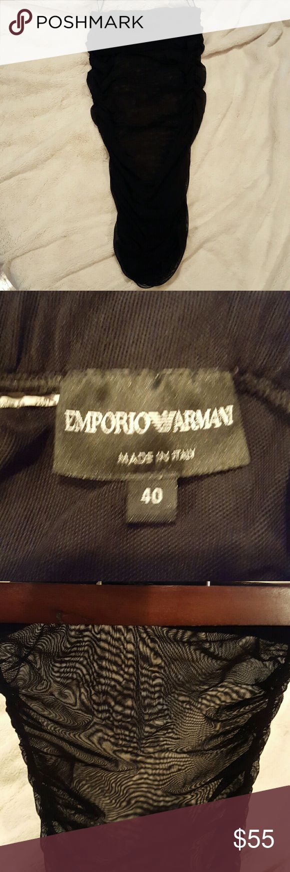 Sheer Armani Slip Sheer Emporio Armani slip. This can go under a skirt or tube dress. Emporio Armani Other