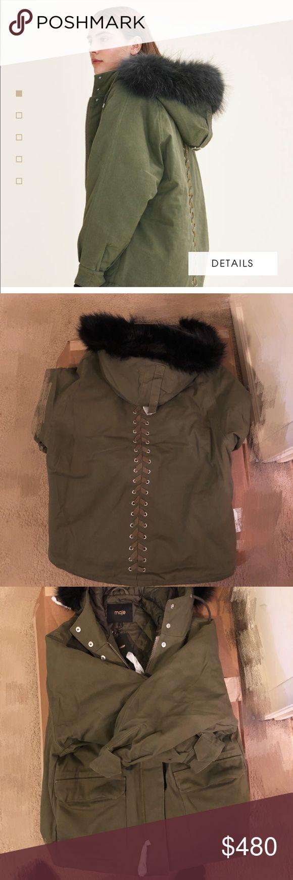 Make fur Parka Coat Fur Parka Maje Jackets & Coats Puffers