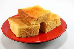 Cornbread, 1 c. flour, 1 c. cornmeal, 1 c. milk, 1/3 c. oil, 1 egg, 1 tbsp. baking powder, 1 tbsp. butter, 1 tbsp. salt, 1 tbsp. sugar.  Mix dry/wet, 400 deg. 25 min.