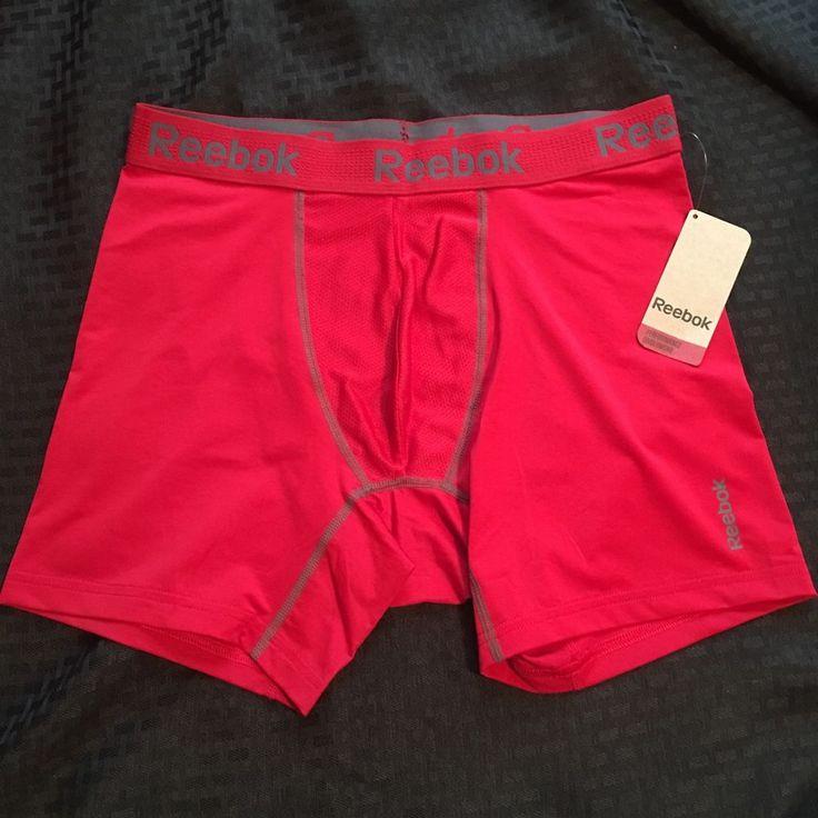 reebok underwear mens. new mens reebok compression performance boxer briefs size l red athletic gift #reebok #boxerbrief underwear f