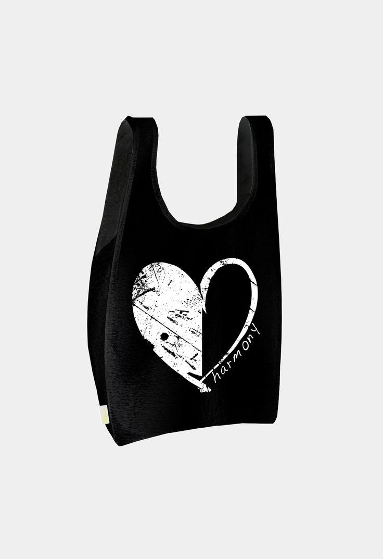 black bag with black-white heart www.bosco-design.com
