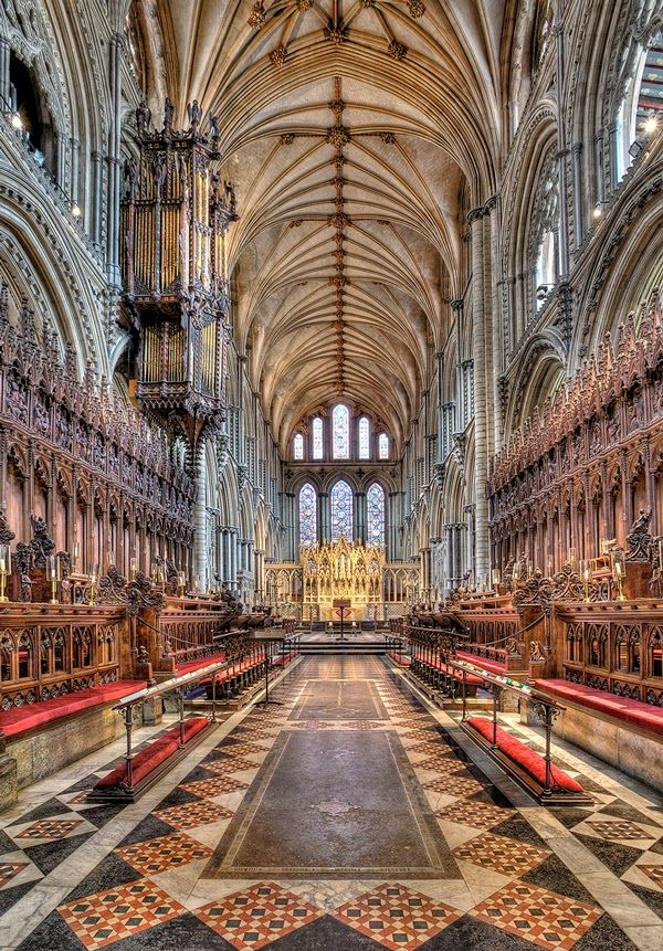 Grand Hall of Ely Cathedral, Cambridgeshire England
