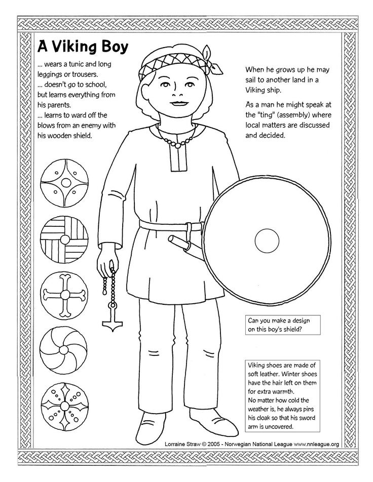 Fun colouring page for little vikings: