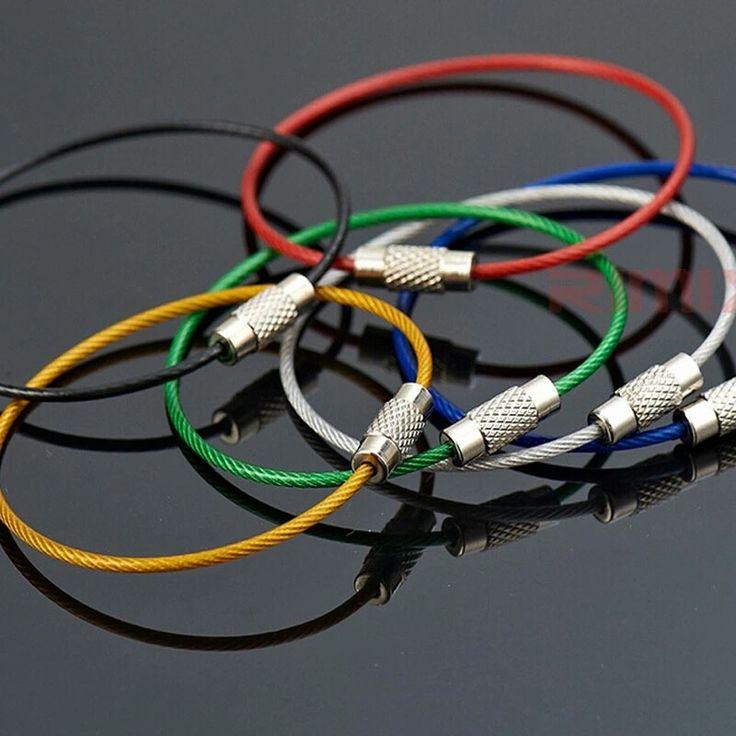 Circle Key chain in acciaio rivestito in gomma - colori vari
