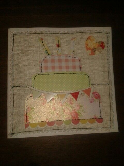 Mixed my two fave crafts.. sewing and card making