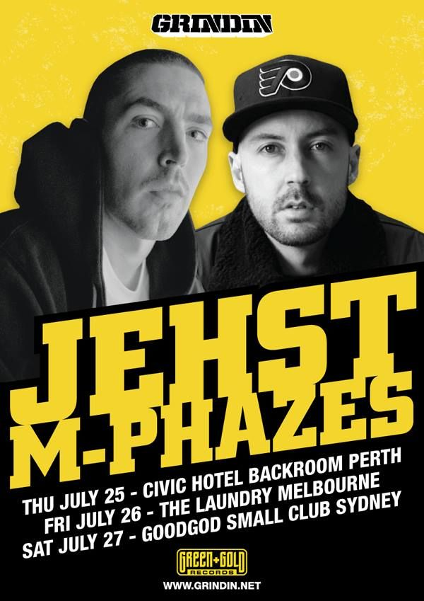 Australian Tour: Jehst & M-Phazes - One of the UK's finest lyricists & Australia's best producers are coming together this July to put the finishing touches on their brand new collaborative album. At the end of July Jehst & M-Phazes will come up for air to perform a select group of shows to showcase a handful of their new tracks as well as a gang of classic Jehst & M-Phazes material!