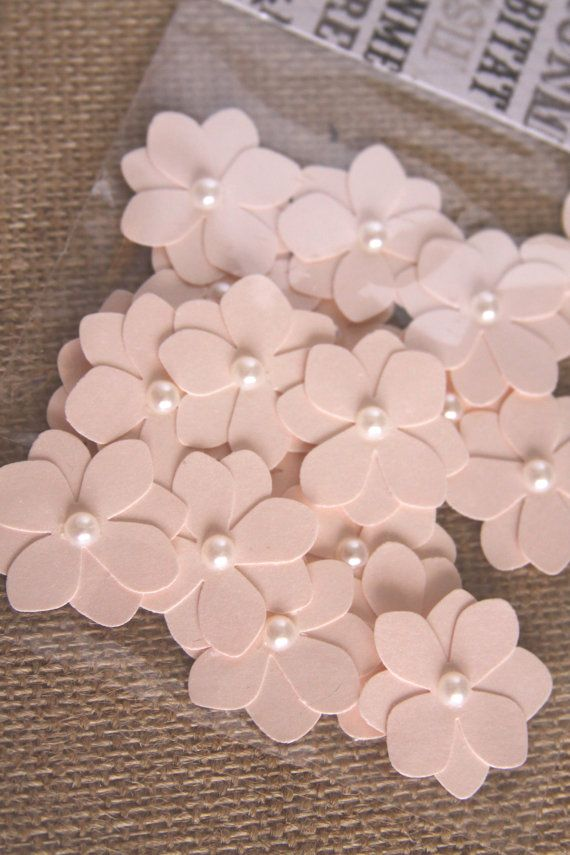 Handmade Flowers in Pink Handmade Paper by Summertimedesign, $2.00