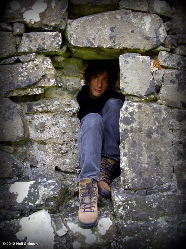 Neil Gaiman's photo: In which an author clambers through a very narrow place successfully. (Photograph by Hayley Campbell.)
