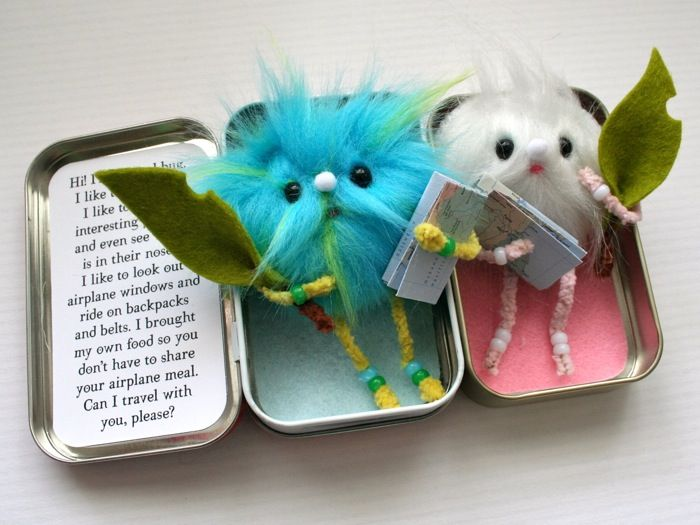 mmmcrafts: travel bugs (now called TravelWees). This is an etsy pattern you buy, but can probably figure out. So cute