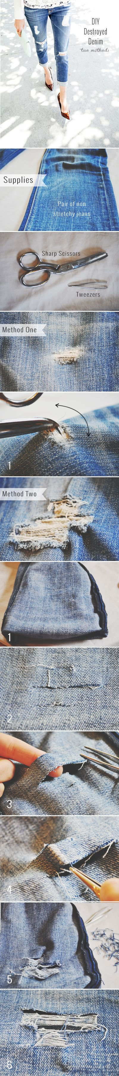 #DIY #DestroyedDenim #Jeans