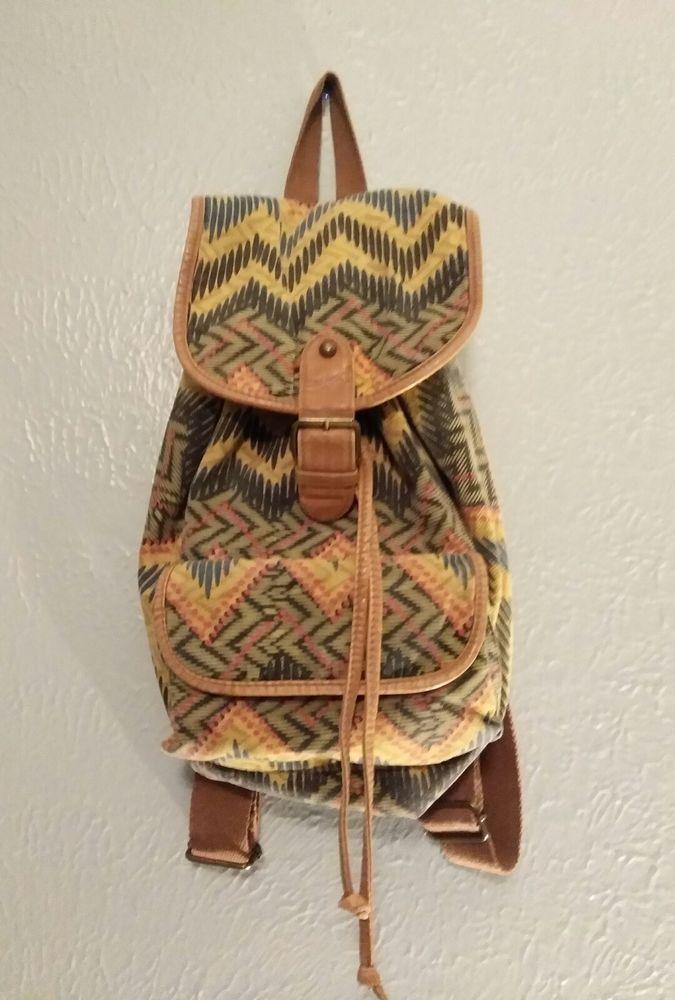 Mossimo Target Boho yellow chevron  Backpack Purse #Mossimo #BackpackPurse