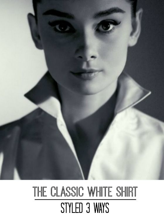 Here is a video tutorial on how to wear the classic white shirt three different ways.