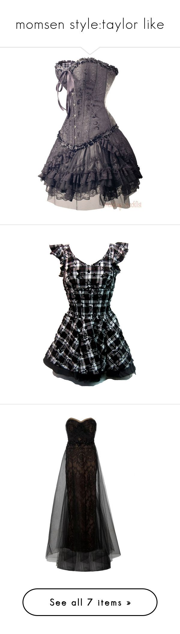 """""""momsen style:taylor like"""" by souzaviick ❤ liked on Polyvore featuring dresses, vestidos, corsets, short dresses, tops, gothic punk dresses, short gothic dresses, white plaid dress, short white dresses and white goth dress"""