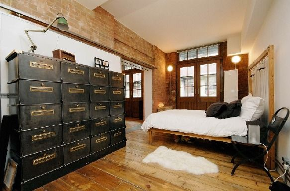 Best 25 industrial bedroom design ideas on pinterest for Industrial bedroom furniture