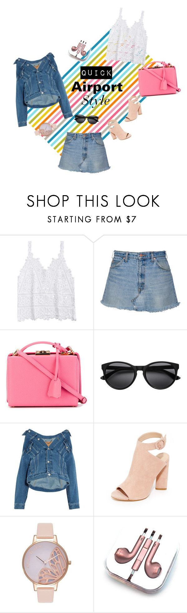 """Quick Airport Style #1"" by bebebelabee on Polyvore featuring Mark Cross, Balenciaga, Kendall + Kylie, Olivia Burton and PhunkeeTree"
