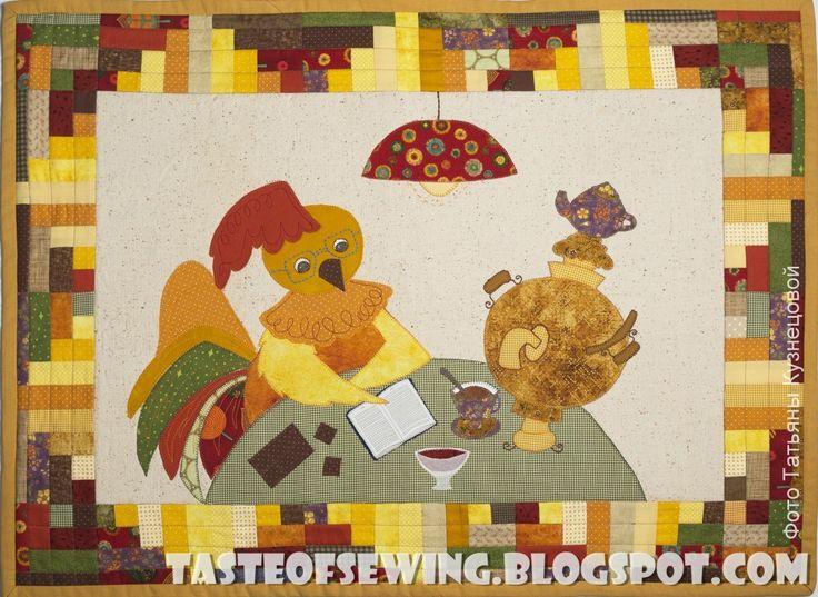 A taste of sewing: Картинка с петухом