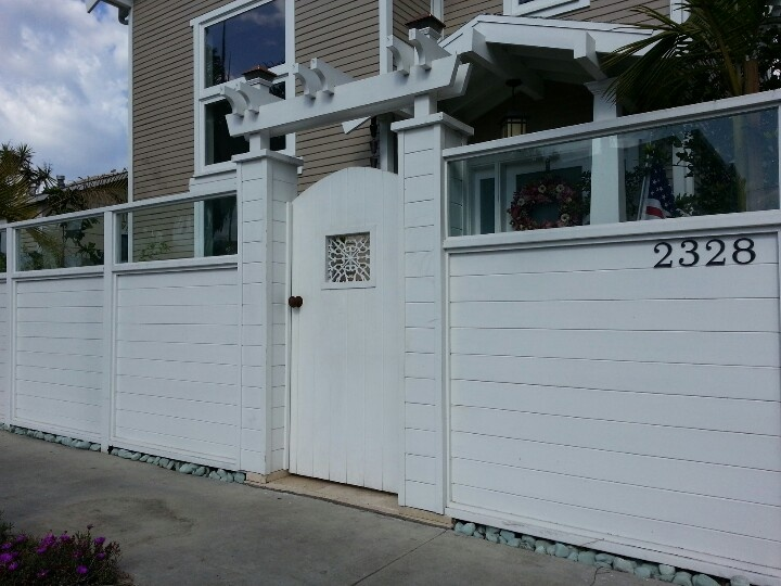 white horizontal wood fence. Plexiglass Fence With Horizontal Tongue And Groove Boards. Painted White - 90292 Www.harwelldesign Wood