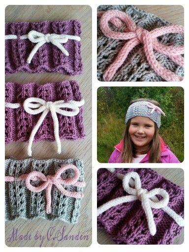 Knitted headband - Klompelompe boken