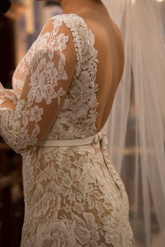 Vestido de noiva com forro nude - Casamento moderno SP