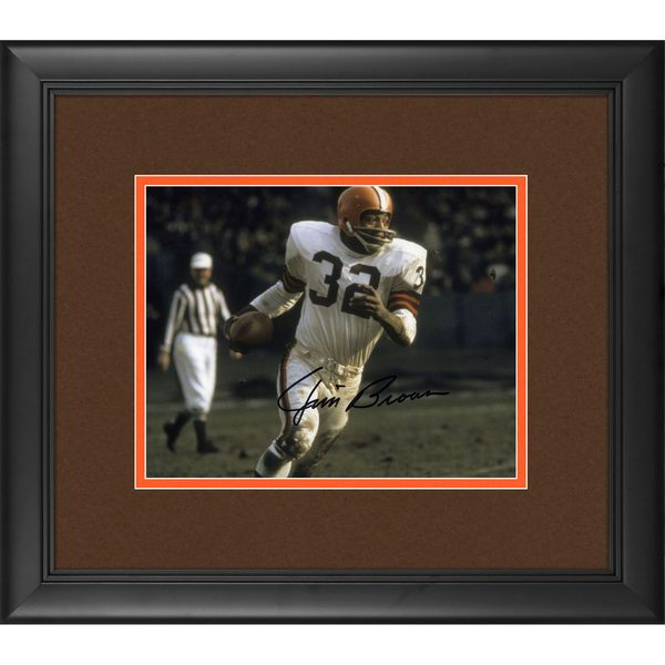 "Jim Brown Cleveland Browns Fanatics Authentic Framed Autographed 8"" x 10"" Run with Ball Photograph - $199.99"