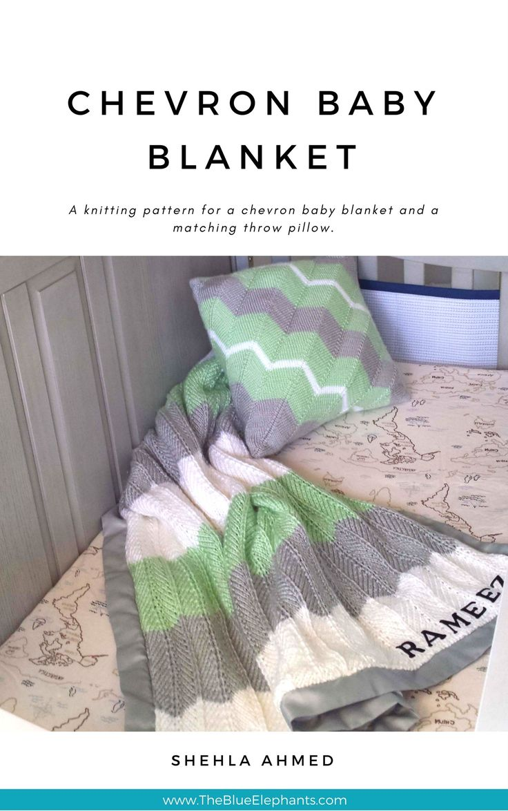 Chevron Baby Blanket Pattern! Dress up any nursery and keep your baby snug as a bug with this knitting pattern! Pattern PDF is full of pictures and detailed instructions