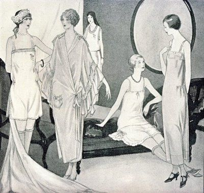 Illustration of lingerie styles from Woman's Home Companion magazine, November 1923