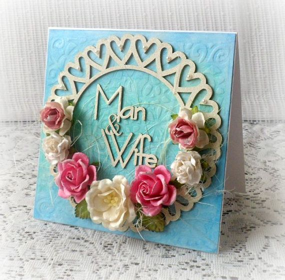 3D handmade wedding card   Man & Wife card  by CarmenHandCrafts