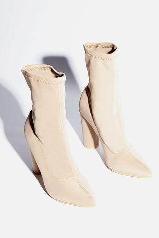 Kourtney Mocha Heeled Ankle Boots