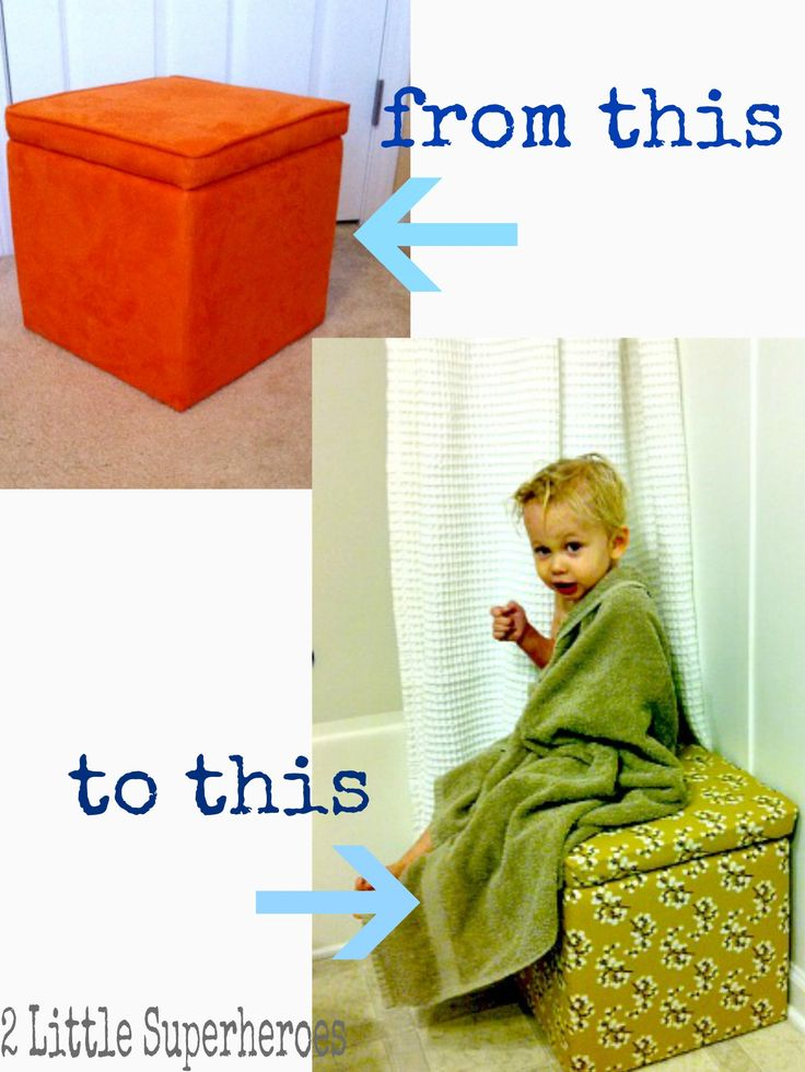 Take a $10 storage cube from Target, a yard of cute fabric and a staple gun and customize your own storage cube. Via 2littlesuperheros.com