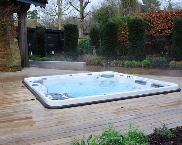 sunken hydropool hot tub. Ugh one day!!