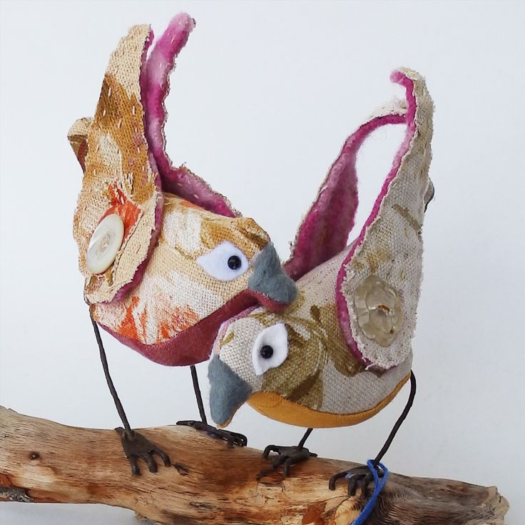 Bird Sculptures 176 best fabric birds soft sculpture textile art - jaybird art