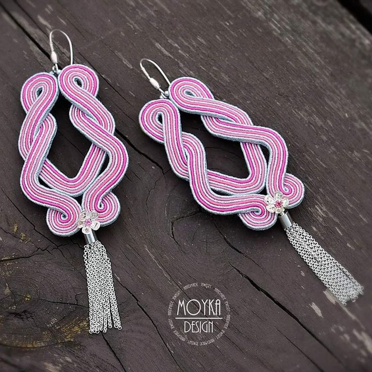 #earrings #moyka #sutasz #jewellerydesign #handmade #jewellery #jewellery #soutache #pink #musthaves