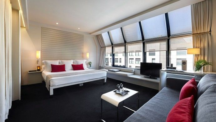 Hotel Miró: Boxy red, white and black rooms are the brainchild of designer Antonio Miró.