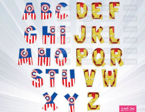 Hey, I found this really awesome Etsy listing at https://www.etsy.com/listing/226268521/captain-american-iron-man-alphabet-png