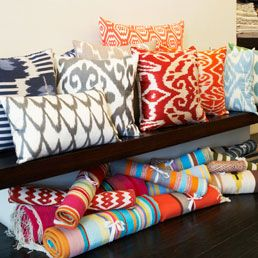 From Layla in Brooklyn, Indian hand- block-printed clothing and home goods