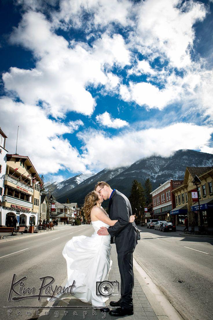 Bride And Groom Portrait Banff Wedding Photographer Rocky Mountain Avenue