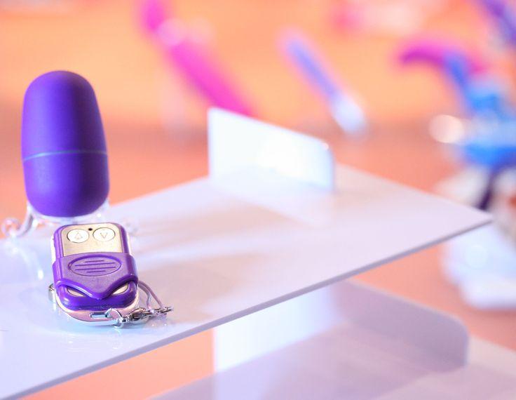 Remote Vibrators on display in store at Sh! Women's Erotic Emporium