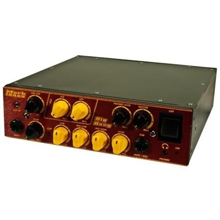 Markbass Big Bang  — 56782 руб. —  Компактный усилитель для басовой электрогитары высокой мощности (до 500 Вт на 4 Ом), 2 канала: Normal и Bright, вход: балансный XLR, небалансный jack 1/4 дюйма, с блока эффектов, выход: на наушники, на педаль управления (Mute, VTF, VLE), на АС (Speakon, jack 1/4 дюйма), на блок эффектов, линейный, на настройщик, габариты 225 х 75 х 250 мм, вес 2,1 кг.
