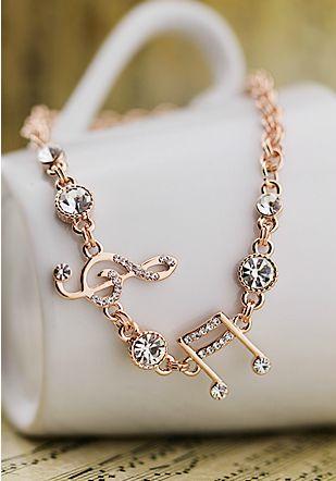 Elegant Austria Rhinestones Notes Bracelets