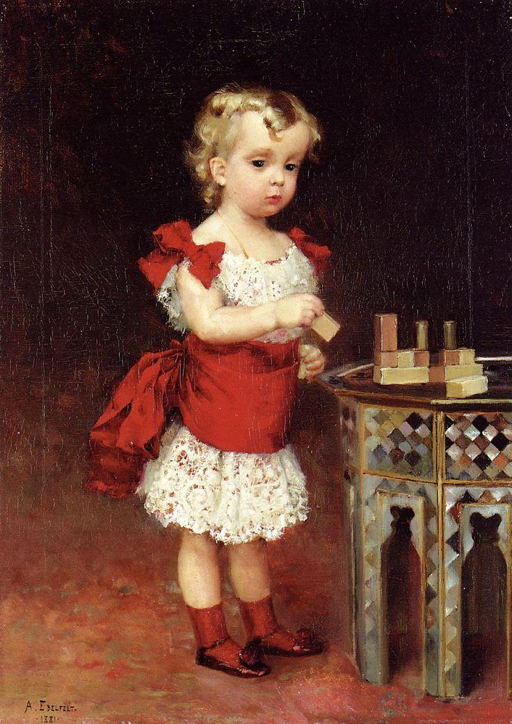 Retrato del gran duque Andrei Vladimirovich como un niño,1881